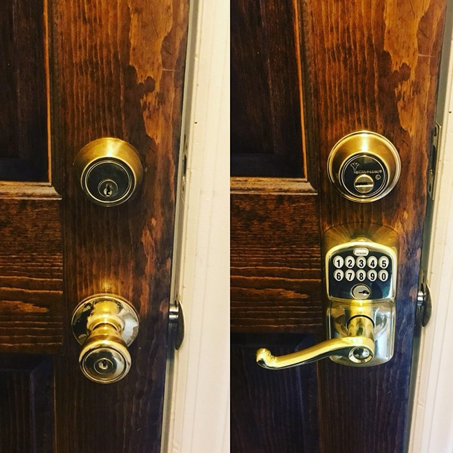 Door Lock upgraded into a Electronic Lock