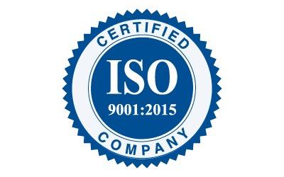 ISO ceritfied company badge